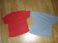 t-shirts unis 6 ans portées 1 fois 1e pièce