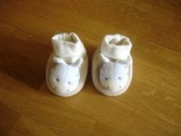 chaussons hochet comme neufs babysun 3€