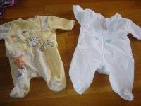 pyjamas 1 mois (reste le blanc obaibi) 2e pièce