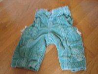 pantalon turquoise 3 mois 2e