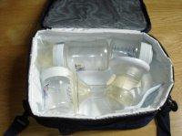 le tire lait, 2 bibs de stockage 150 ml et 1 bib de 260 ml
