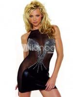 Attractive-Black-Acrylic-Spandex-Clubwear-Dress-80599-1