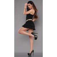 robe-legere-bustier-avec-froufrou-couleur-noir