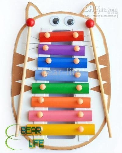 Toy-Cat-20pcs-lot-Happy-Xylophone-Brightly-Colored-Wooden-Musical