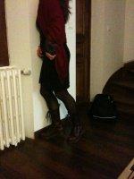 robe noire_étole rouge