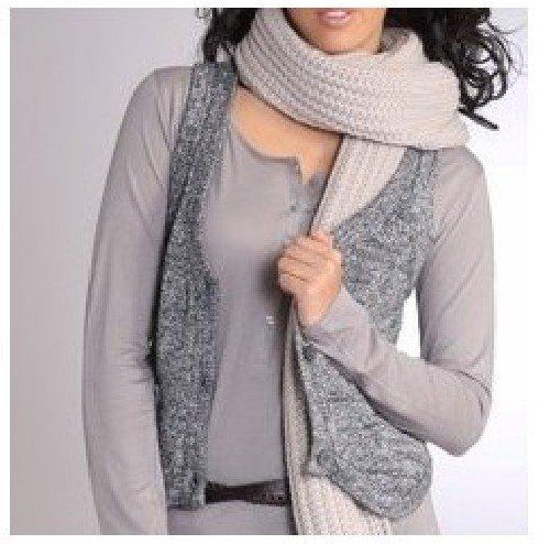 Veste sans manche femme au tricot