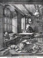 Dürer Saint-Jérôme dans son étude
