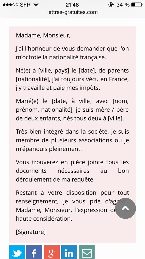 modele lettre de motivation naturalisation suisse