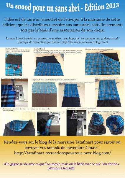 un snood pour un sans abri - edition 2013- couverture- laine-