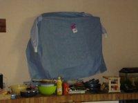 notre TV couverte car poussière