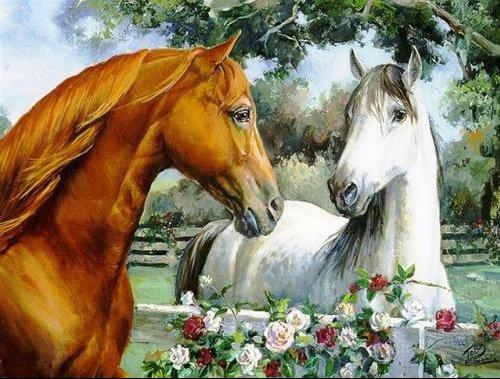 chevaux x2