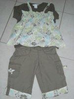 t-shirt H&M, pantacourt et haut kimbaloo 6€