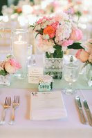 table-mariage-menthe-corail