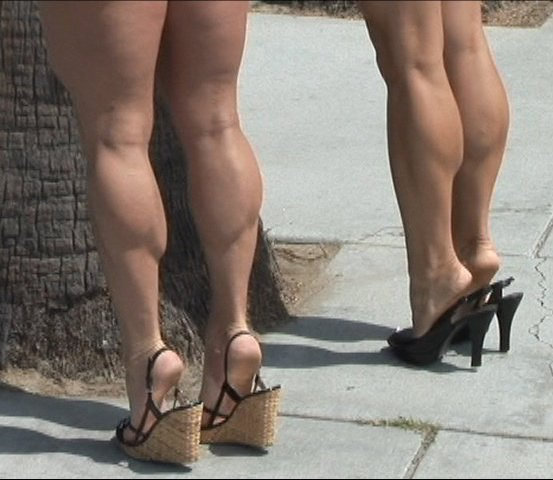 two pair of calves 3 her calves muscle woman female strong huge big muscular massive ripped nice hot