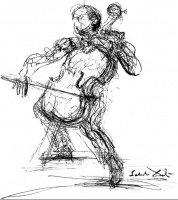 Rostropovich (S. Dali)