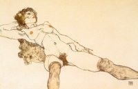 .E.Schielle :Nu allongé..