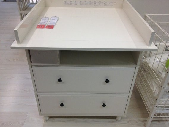 Commode a langer blanche ikea for Armoire table a langer