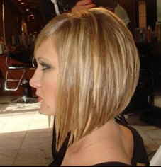 coiffure carre plongeant avec frange