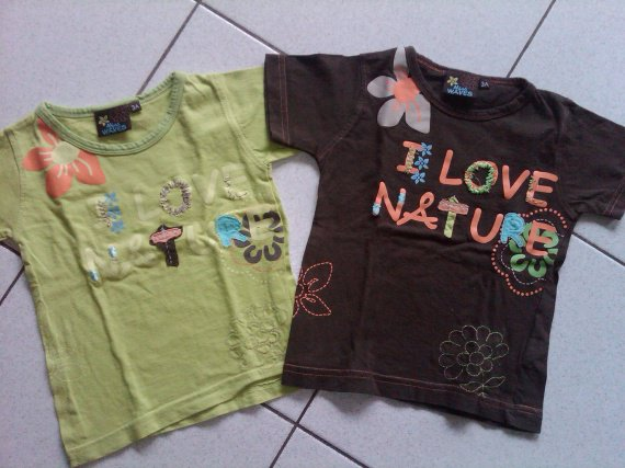 "tee shirt ""I love Nature"" petit 3 ans"