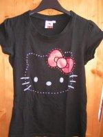 Tee shirt noir hello kitty taille S comme neuf