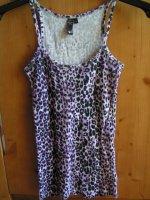 debardeur xs leopard violet
