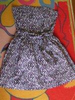 Robe buustier leoaprd violet XS