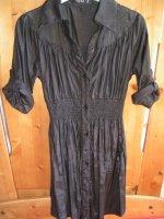 Chemise longue tunique noir brillante neuf S