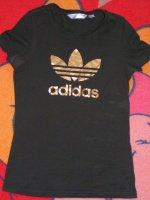 Tee shirt adidas noir et or taille 36