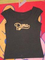 Tee shirt Puma taille M Noir et or