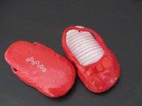 Adorable petit chausson forme sandale absorba rouge