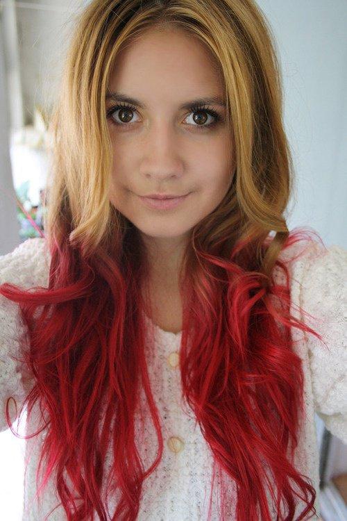 Couleur cheveux rouge intense