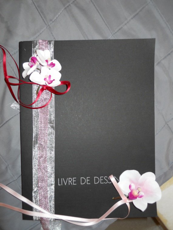 livre d'or fleurs