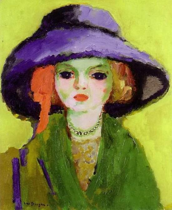 van-dongen-fauv_chapeau_violet