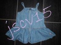 6 euros Robe jean a bretelles DKNY 18 mois