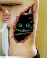 tatouage-3d-chat