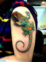 tatouage-3d-cameleon