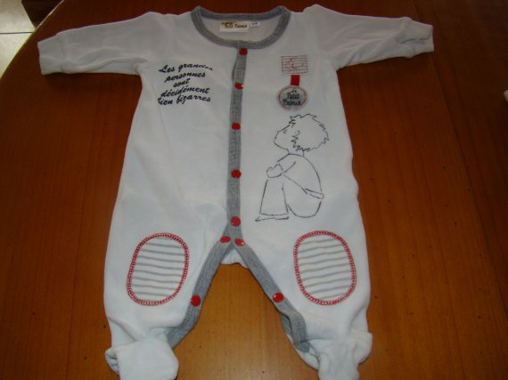 pyjama petit prince 3 mois 4 euros vetement b b gar on. Black Bedroom Furniture Sets. Home Design Ideas