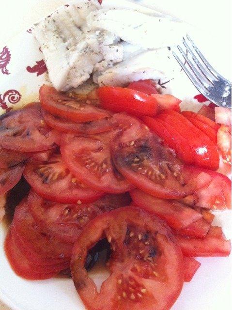 tomates et poisson