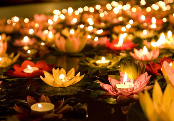 devant toutes ces bougies..
