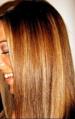 Meches maison couleur cannelle cheveux
