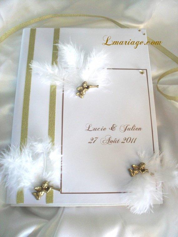 livre d'or ange et plume