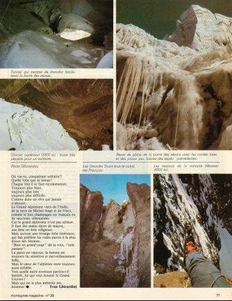 Ivano Ghirardini, première solitaire face sud Aconcagua 3