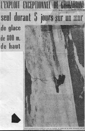 Ivano Ghirardini, Le Linceul, face nord des grandes jorasses, 4