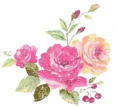 rose et feuillage