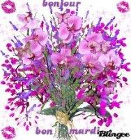 bon mardi - bouquet de fleurs