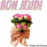 bon jeudi - bouquet de roses