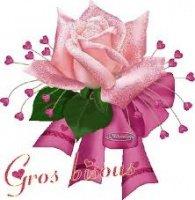 bisous rose et coeurs