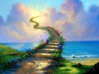escalier arc-en-ciel