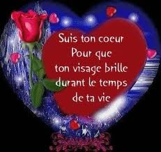 coeur avec message