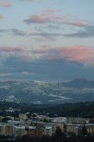 Coucher de soleil sur les montagnes-1
